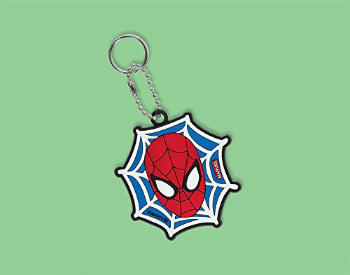 "Amscan Ultimate Spider Man Character Key Chain Birthday Party Favor (1 Piece), 3 1/2"" x 2"", Blue/Red"