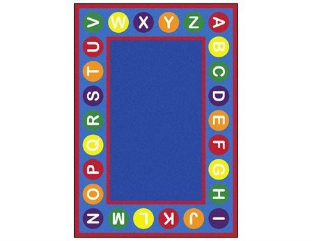 "Joy Carpets Kid Essentials Early Childhood Alphabet Spots Rug, Multicolored, 5'4"" x 7'8"" - 1"
