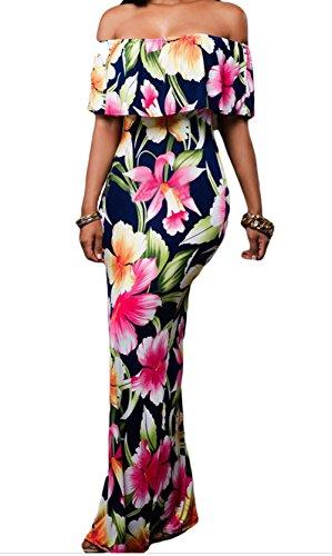 YeeATZ Print Off-the-shoulder Maxi Dress