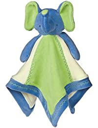 Mary Meyer Earthmates 100-Percent Organic, Elephant Baby Blanket, Blue, 16-Inches X 16-Inches