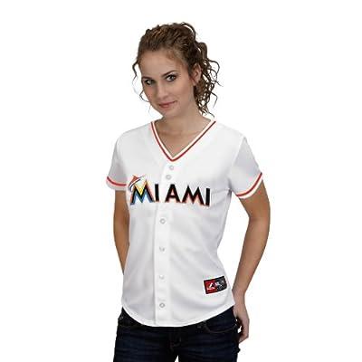 MLB Miami Marlins Home Replica Baseball Women's Jersey, White