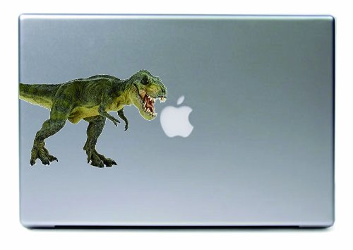 Laptop - Tyrannosaurus Rex T-Rex Color Printed Apple Decal - Matte Black Skins Stickers front-795323