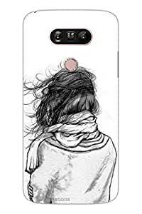 MiiCreations 3D Printed Back Cover for LG G5,Girls Sketch