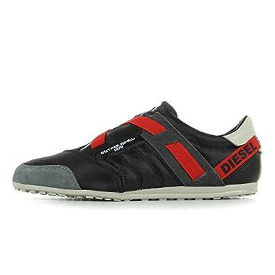 diesel detente noir cb294c baskets mode homme eu 41 chaussures et sacs. Black Bedroom Furniture Sets. Home Design Ideas