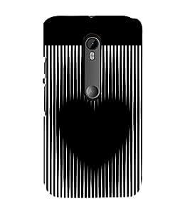 printtech Black Heart Symbol Back Case Cover for Motorola Moto G3 / Motorola Moto G (3rd Gen)