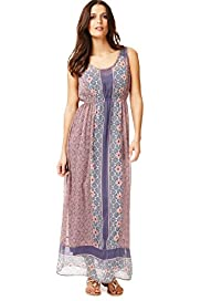Indigo Collection Bali Print Maxi Dress with Camisole