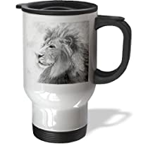 Holds 16 Oz.stainless Steel Body Totes For Her Lepoard Striped Heated Auto Mug