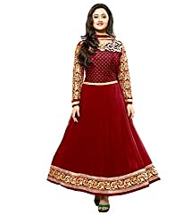 Stutti Fashion Exclusive Red Color Semi Stitched Dress Material