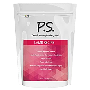 PS For Dogs 100% Hypoallergenic Dog Food No More Paw Licking & Skin Scratching Solves Pet Food Allergies Naturally No More Harmful Pills, Shots & Expensive Prescription Foods , 5 lb