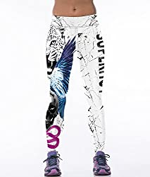 iSweven White tiger Design Printed Polyester Multicolor Yoga pant Tight legging for womens girls