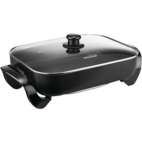 Brentwood Sk-75 Electric Skillet With Glass Lid (1,400W; 16); front-608433