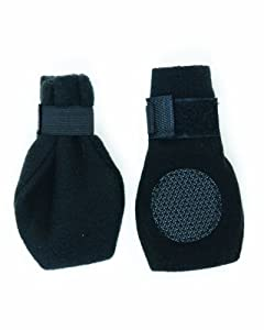 Fashion Pet Arctic Fleece Boots for Dogs, M, Black
