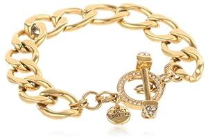 """Juicy Couture """"Replenishment"""" Gold Charm Link Bracelet, 7.5"""""""