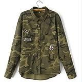 Jacket Women Military Camouflage Blouse Coat Casual Fashion Jaqueta Feminina Chaquetas Mujer Size:L