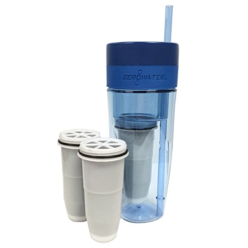 ZeroWater 26oz Portable Filtration Tumbler and 2-Pack Tumbler Replacement Filters - ZT-M01 (Filter Zero Water compare prices)