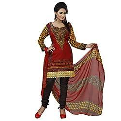 Khazana Women's Unstitched Dress Material (khazana-pk-03_Red _Free Size)