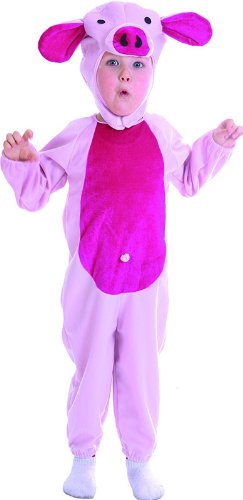 Bristol Novelty Pink Piggy Toddler Childrens Costume Boy's One Size