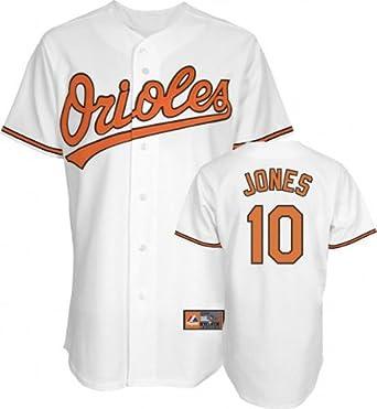 MLB Baltimore Orioles Adam Jones White Home Replica Baseball Jersey, White by Majestic