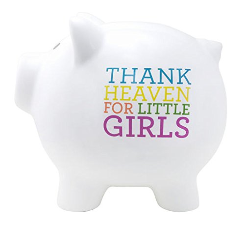 Thank Heaven for Little Girls Childrens Piggy Savings Bank