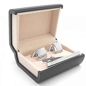 Premium Set aus Manschettenknöpfe Krawattennadel + Etuis für Hemd und Krawatte Tunnelstore