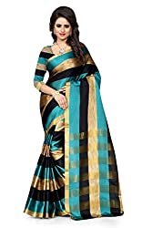 Snapyshopy Outstanding Rama Colord Heavy Cotton Printed Saree