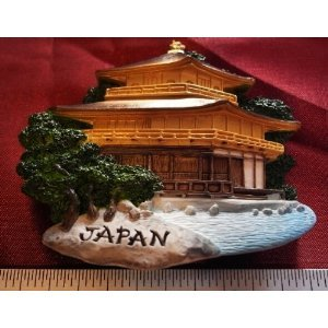 Golden Temple Japan Japanese Castle High Quality Resin 3D fridge Refrigerator Thai Magnet Hand Made Craft