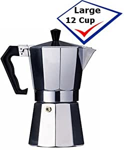 Cuban Coffee Maker Name : Amazon.com: Aluminum Cuban Style Coffee Maker 12 cup.: Stovetop Espresso Pots: Kitchen & Dining