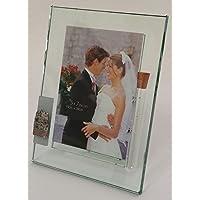 Jewish Wedding Picture Frame - Thick Glass Frame - Holds Shards of Wedding Shards - Jerusalem