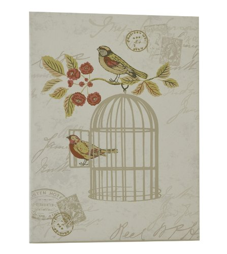 Vintage Shabby Chic iLiv Song Bird Canvas Print Wall Art Hangings, Cream / Terracotta