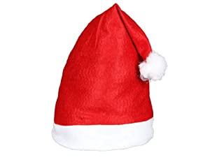 12 Stück Alsino Weihnachtsmützen Nikolausmützen mit Bommel 32