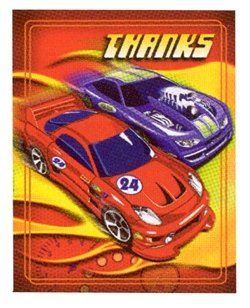 Hot Wheels Cars Thank You Notes Party Supplies