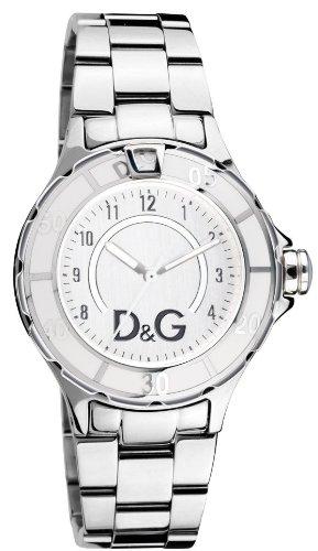 D&G WATCH NEW ANCHOR SILVER DIAL SS BRC CASE SS W/WHITE E DW0512 - Orologio da uomo
