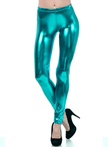 Liquid Wet Look Shiny Metallic Stretch Leggings - Many Colors - Up to 2XL