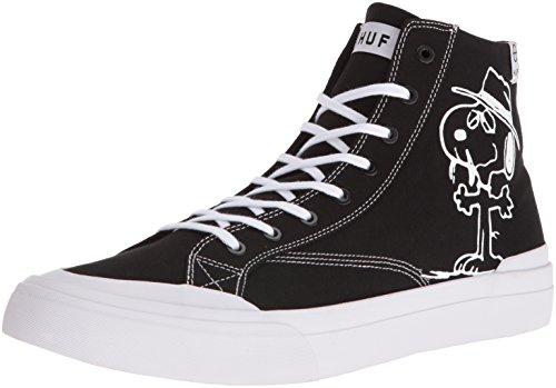 HUF Men's Classic HI Peanuts Skateboarding Shoe, Black/White, 11.5 M US