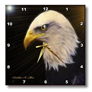 SmudgeArt American Bald Eagle a Wall Clock, 10 by 10-Inch