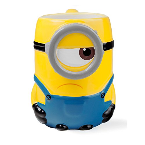 Joy Toy 90556 Tasse Minion Stuart 3D en céramique 500 ml 12 x 8 cm 11,5 cm