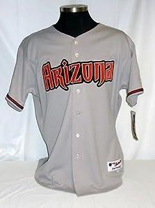 Arizona Diamondbacks Authentic Majestic Road Jersey w  2008 All Star Game Patch by Your Sports Memorabilia Store