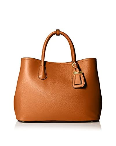SOCIETY NEW YORK Women's Tote Bag, Cognac