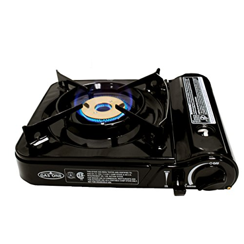 GAS ONE GS-3800DF Brass Head Burner with Dual Spiral Flame 11,000 BTU Portable Gas Stove with Heavy Duty Clear Carrying Case, CSA Listed (Mini Gas Stove compare prices)