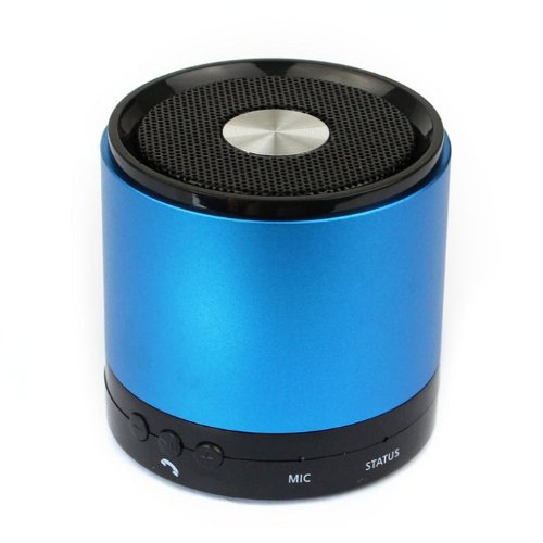 Amtonseeshop New Fashion 3W Metal Wireless Bluetooth Hifi Bass Stereo Handsfree Mic Portable Speaker (Blue)