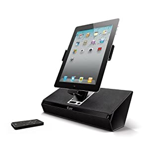 iLuv iMM727BLK ArtStation Stereo Speaker Dock for the Apple iPad -3G / iPad 2 WiFi/3G Model 16GB, 32GB, 64GB EST Model for Apple iPhone 4, iPhone 4S and iPod Touch -Black from iLuv