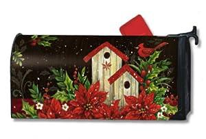 MailWraps Winter Birdhouse Mailbox Cover #02364