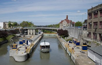 Erie Canal Tour Boat at Lock 35, Lockport, New York