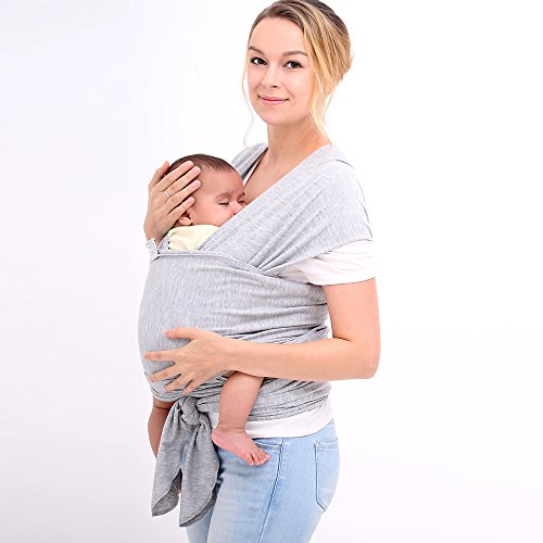 For Sale! Innoo Tech Baby Sling Carrier Natural Cotton Original Baby Wrap ,Grey, for babies from bir...