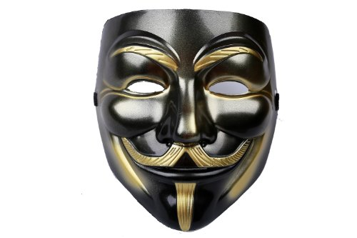 V for Vendetta Mask Props for Halloween Costume Black (V Is Vendetta)