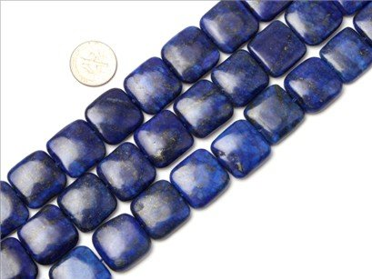 20mm square gemstone lapis lazuli beads strand 15