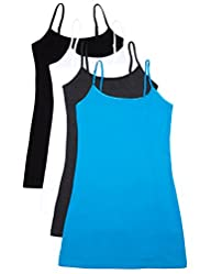 3 or 4 Pack: Active Basic Cami Tanks in Many Colors