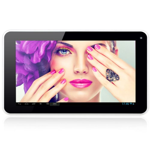 Megafeis� M700P 8GB 7 Android 4.1 Tablet PC Dual Core Processor ARM Cortex A9 5 Point Multi-touch Screen HD 1024x600 1080P HDMI Google Play Pre-load G-sensor Black+White Best Gift Present for Christmas Thanksgiving Day New Year Kids Children