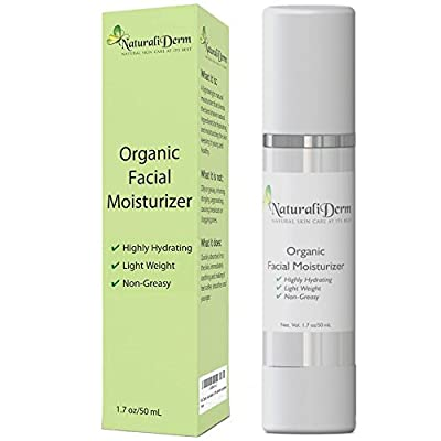 Best Cheap Deal for Organic Facial Moisturizer, Best for Daily Use. Natural, Anti-Aging for Women & Men - Ideal for Sensitive & Acne Prone Skin - Light Weight Non-Greasy & Non-Comedogenic for Oily or Dry Skin.. by NaturaliDerm - Free 2 Day Shipping Availa