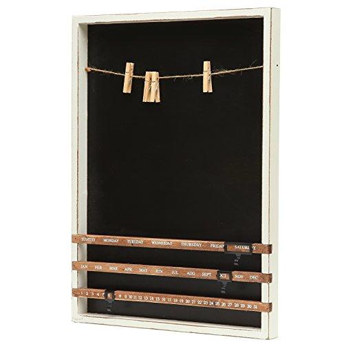 Decorative Wall Calendar Holder : Wall mounted wood frame chalkboard w vintage sliding
